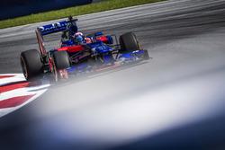 Marc Marquez drives a Toro Rosso F1