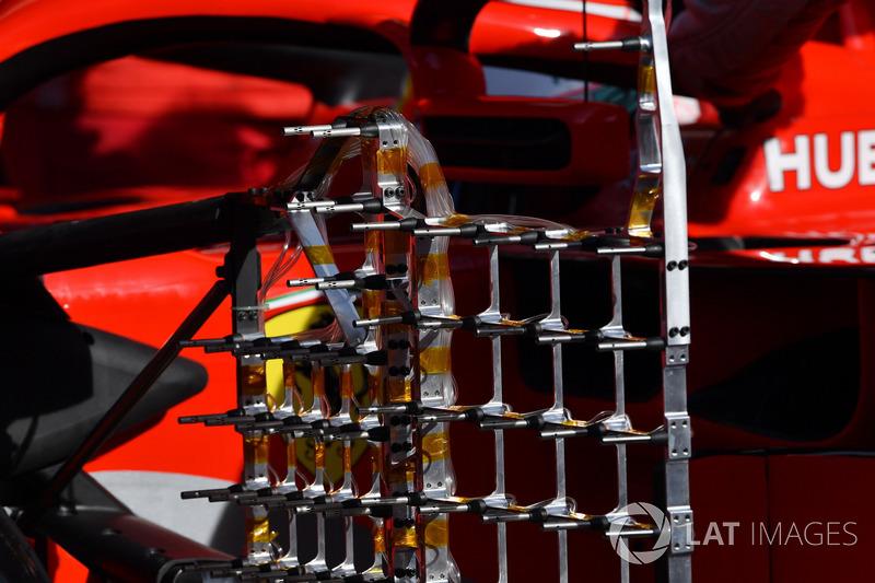Ferrari SF71H aero sensörü detayı