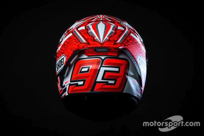 Presentazione del casco di Marc Marquez