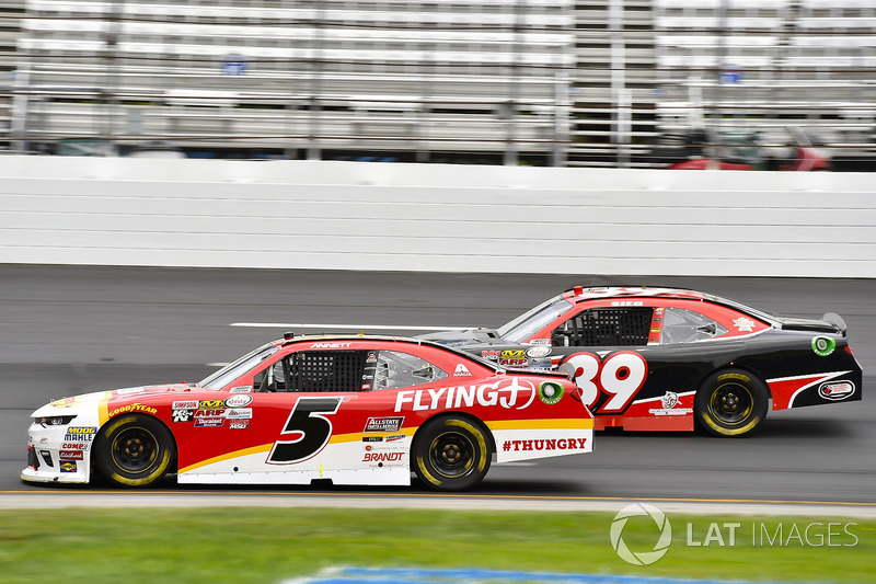 Michael Annett, JR Motorsports Chevrolet, Ryan Sieg, RSS Racing Chevrolet
