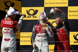 1. René Rast, Audi Sport Team Rosberg, Audi RS 5 DTM; 2. Mattias Ekström, Audi Sport Team Abt Sportsline, Audi A5 DTM