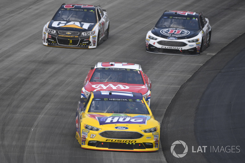 Ricky Stenhouse Jr., Roush Fenway Racing, Ford; Austin Dillon, Richard Childress Racing, Chevrolet;, Ryan Newman, Richard Childress Racing, Chevrolet; Kevin Harvick, Stewart-Haas Racing, Ford