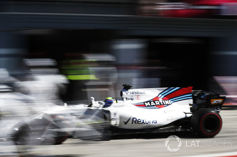 Felipe Massa, Williams FW40 di pit