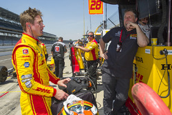 Ryan Hunter-Reay, Andretti Autosport Honda with team owner Michael Andretti