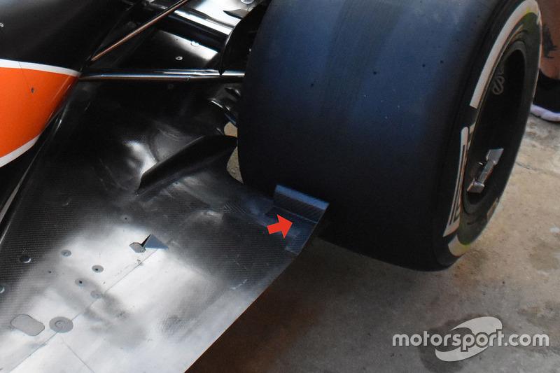 Détails du plancher de la McLaren MCL32
