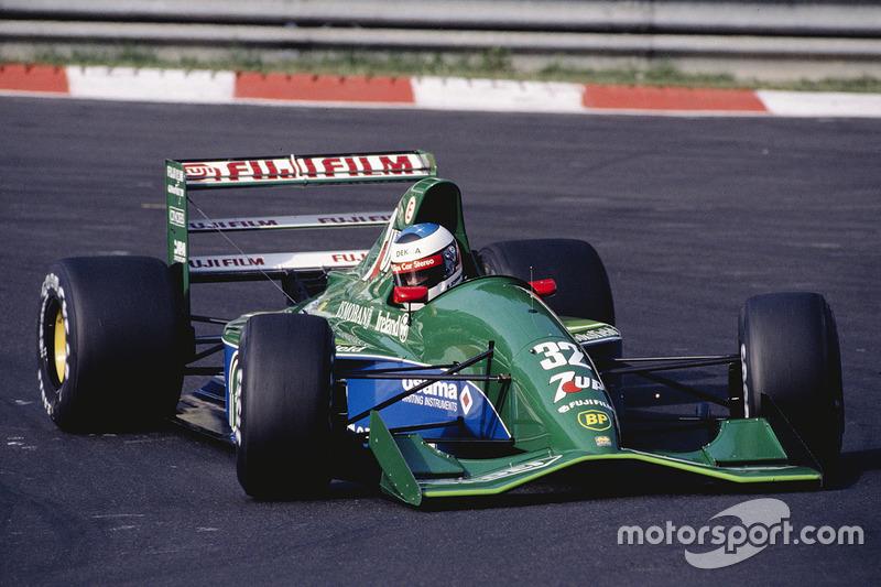 1991: Jordan/Benetton - 14º lugar, 4 pontos, 6 GPs