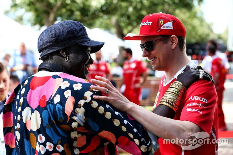 Kimi Raikkonen, Ferrari con Mr Moko