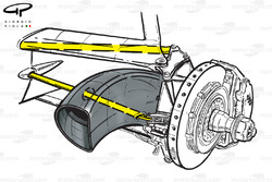 McLaren MP4-14 steering arms