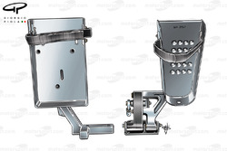 DUPLICATE: Williams FW28 pedals adapted from use by Alex Zanardi during post season test