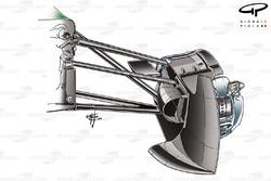 Force India VJM03 brake duct