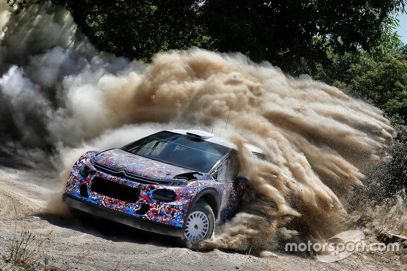 Kris Meeke, Craig Breen e Khalid Al-Qassimi, Citroën World Rally Team, Citroën C3 WRC Plus 2017