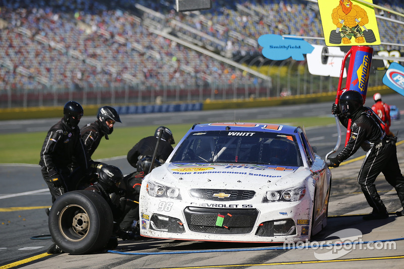 cole whitt premium motorsports chevrolet pit action at charlotte ii