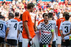 Dirk Nowitzki, NBA Spieler und Sebastian Vettel, Ferrari