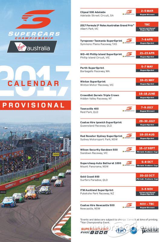 Supercars-Kalender 2017