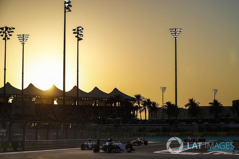 Lewis Hamilton, Mercedes F1 W07 Hybrid y Nico Rosberg, Mercedes F1 W07 Hybrid