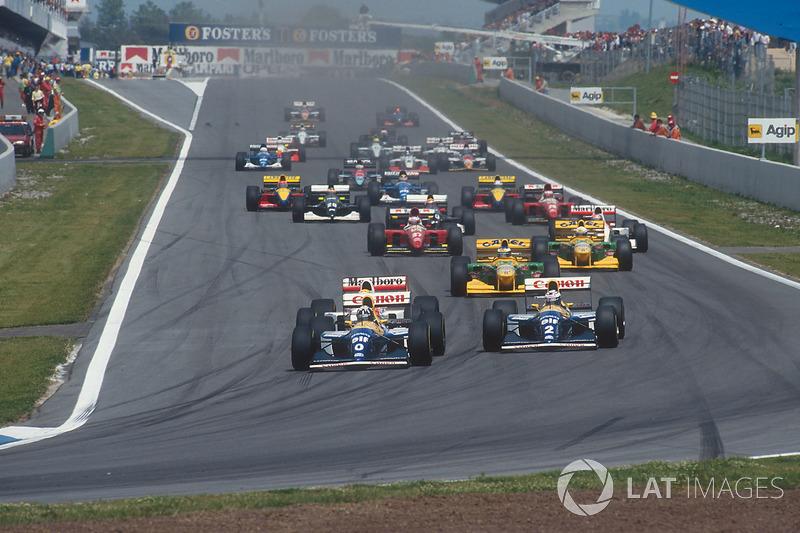 En la salida, Damon Hill traccionó mejor que su compañero de equipo