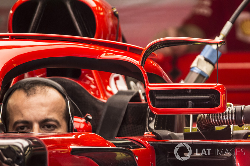 Ferrari SF71H, dettaglio dello specchietto