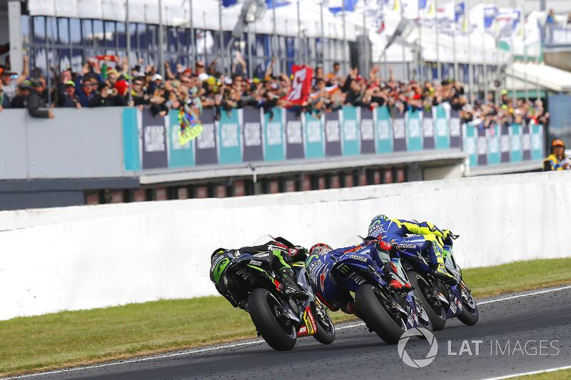 Bagarre de Yamaha entre  Rossi, Viñales et Zarco