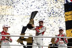 Champions Podium: Champion René Rast, Audi Sport Team Rosberg, Audi RS 5 DTM, second place Mattias Ekström, Audi Sport Team Abt Sportsline, Audi A5 DTM, third place Jamie Green, Audi Sport Team Rosberg, Audi RS 5 DTM