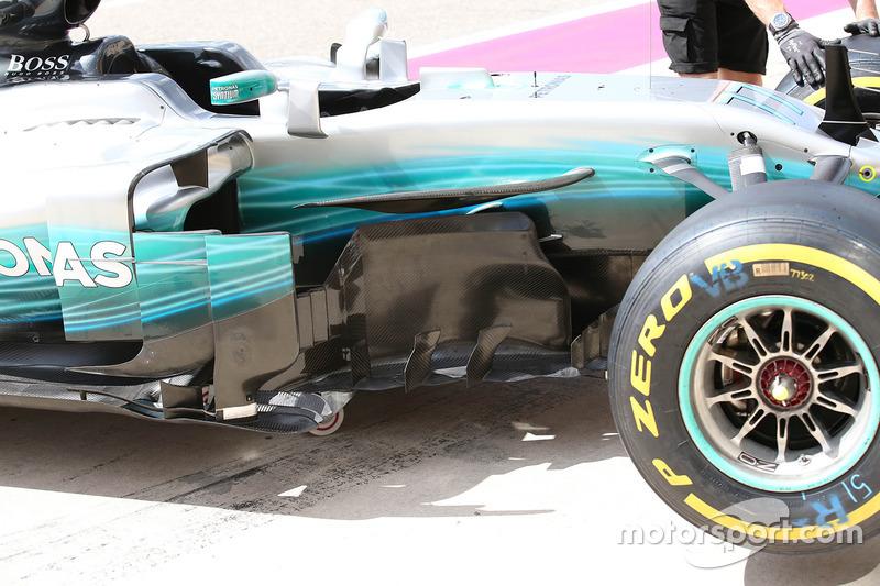 Déflecteur de la Mercedes AMG F1