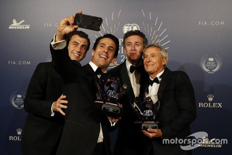 Lucas di Grassi, Alejandro Aggag y Jean Paul Driot