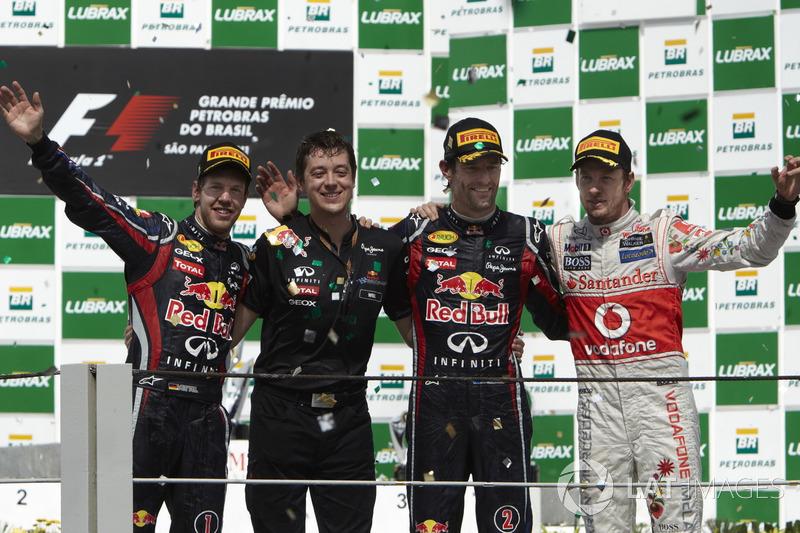 2011 : 1. Mark Webber, 2. Sebastian Vettel, 3. Jenson Button