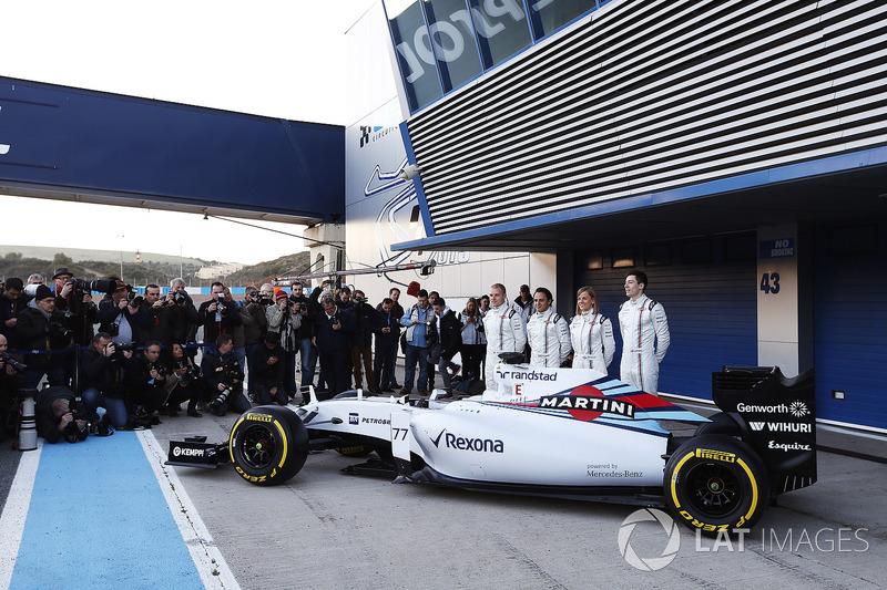 Valtteri Bottas, Williams F1, Felipe Massa, Williams F1, Susie Wolff, Development Driver, Williams F