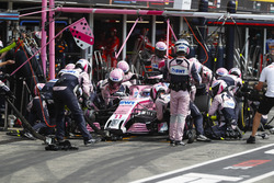 Sergio Perez, Force India VJM11, in the pits