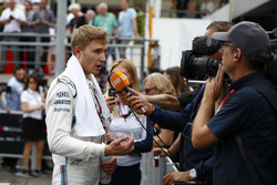 Sergey Sirotkin, Williams Racing, talks to the media