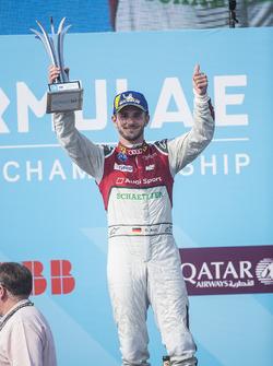 Daniel Abt, Audi Sport ABT Schaeffler, celebrates on the podium