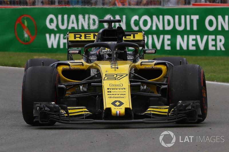 Nico Hulkenberg, Renault Sport F1 Team R.S. 18 saluda al final de la carrera