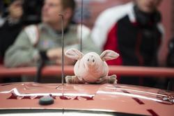 #92 Porsche GT Team Porsche 911 RSR: Michael Christensen, Kevin Estre, Laurens Vanthoor, pink pig mascot
