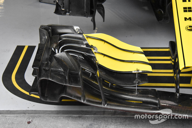 Alerón delantero de Nico Hulkenberg, Renault Sport F1 Team R.S. 18
