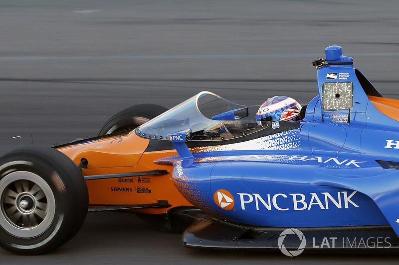 7. Scott Dixon, Chip Ganassi Racing Honda prueba el aeroscreen