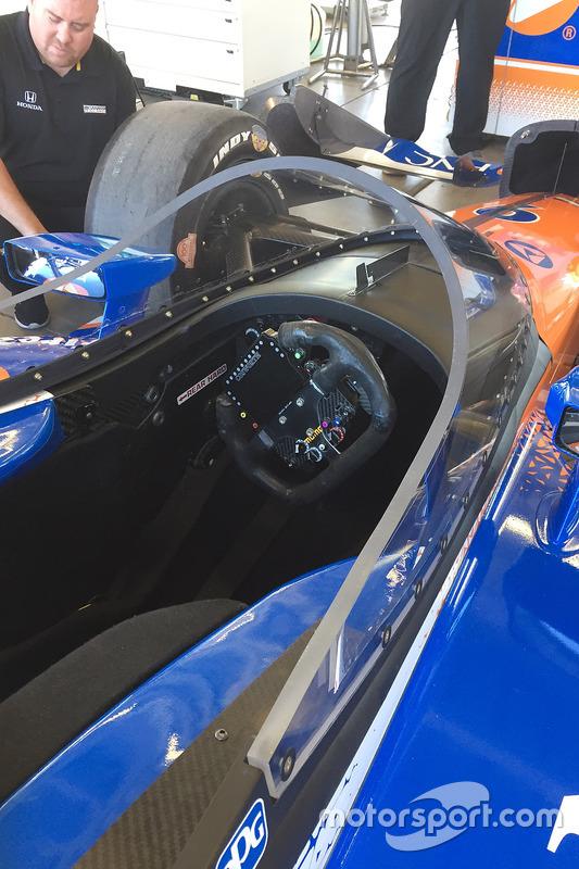 Scott Dixon, Chip Ganassi Racing Honda prueba el nuevo aeroscreen