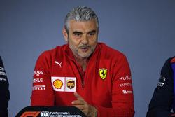 Maurizio Arrivabene, Team Principal Ferrari nella Conferenza stampa