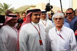 Crown Prince Shaikh Salman bin Isa Hamad Al Khalifa and Bernie Ecclestone, CEO Formula One Group (FO