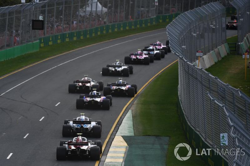 Aksi balapan GP Australia 2018