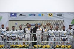 Podium: Race winners #912 Manthey Racing Porsche 911 GT3 R: Richard Lietz, Patrick Pilet, Frédéric Makowiecki, Nick Tandy, second place #4 Mercedes-AMG Team Black Falcon Mercedes-AMG GT3: Maro Engel, Adam Christodoulou, Manuel Metzger, Dirk Müller, third place #5 Mercedes-AMG Team Black Falcon Mercedes-AMG GT3: Yelmer Buurman, Thomas Jäger, Jan Seyffarth, Luca Stolz