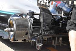 Les freins arrière de la Mercedes AMG F1 W09