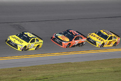 Matt Kenseth, Joe Gibbs Racing Toyota, Kyle Busch, Joe Gibbs Racing Toyota, Martin Truex Jr., Furniture Row Racing Toyota