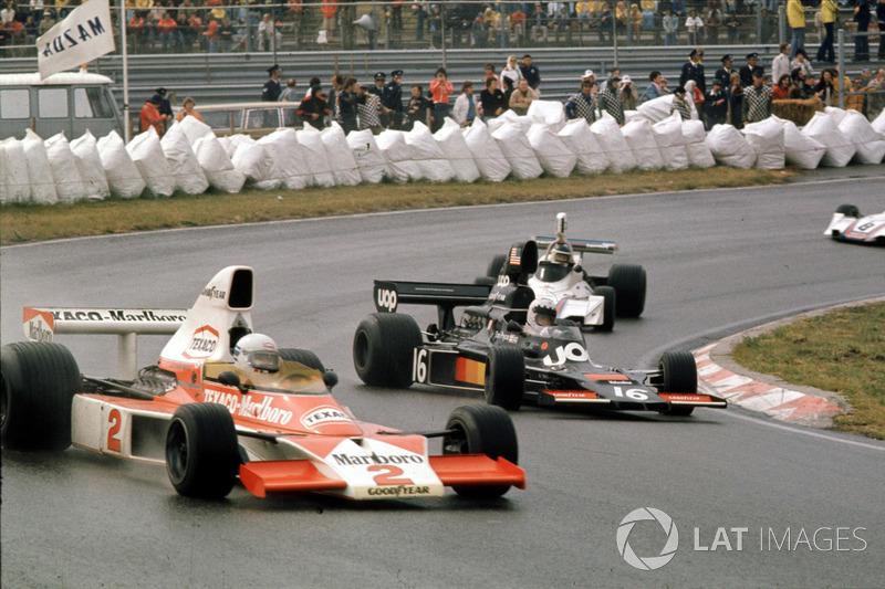 1975: Jochen Mass,McLaren M23 Ford y Tom Pryce, Shadow DN5A Ford