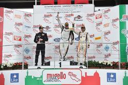 Podio GTS gara 2, Luca Magnoni (Nova Race,Ginetta G55-GT4 #206), Matteo Arrigosi (Ebimotors Srl,Porsche Cayman GT4 CS-GTS #240), Mark Speakerwas (Nova Race,Ginetta G55-GT4 CS #207)