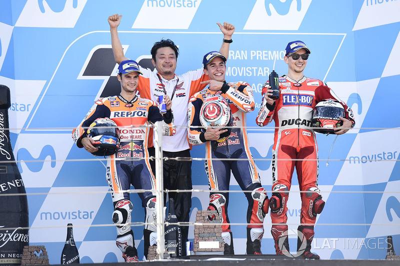 Dani Pedrosa foi o segundo colocado e Jorge Lorenzo terminou em terceiro.