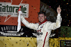 Race winner Denny Hamlin, Joe Gibbs Racing Toyota