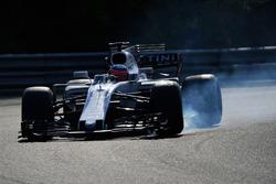 Luca Ghiotto, Williams FW40 bloque une roue