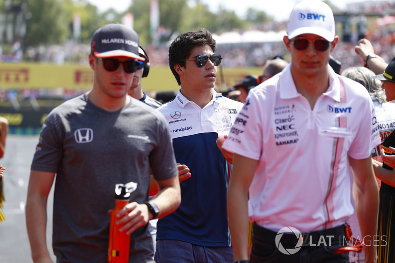 Stoffel Vandoorne, McLaren, Lance Stroll, Williams, Esteban Ocon, Force India