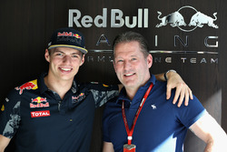 Max Verstappen, Red Bull Racing with his father Jos Verstappen