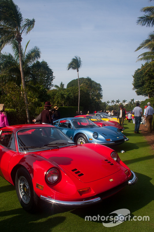 Ferrari Dinos on the Breakers lawn