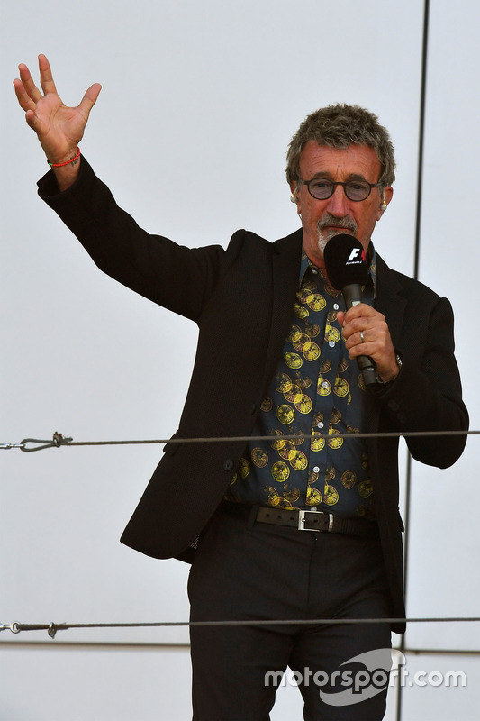 Eddie Jordan, Channel 4 F1 TV on the podium